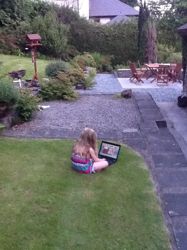 We said play outside, we didnt expect the laptop to go too!