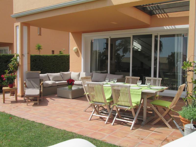 terrace with lounge and table for 8 persons