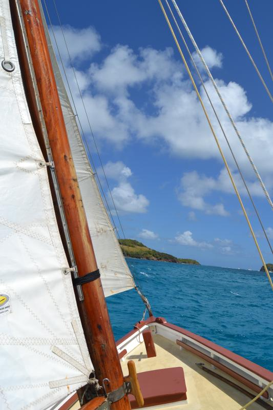 On of many offers is day sailing with one of the sloops built on the island.