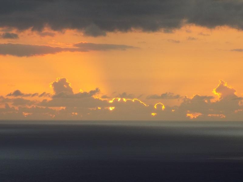 un coucher de soleil différent à chaque fois !