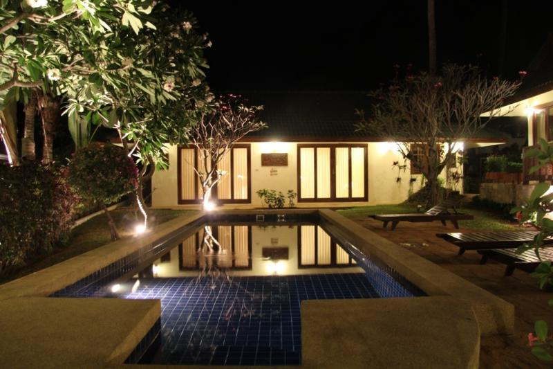 pool & garden - night view