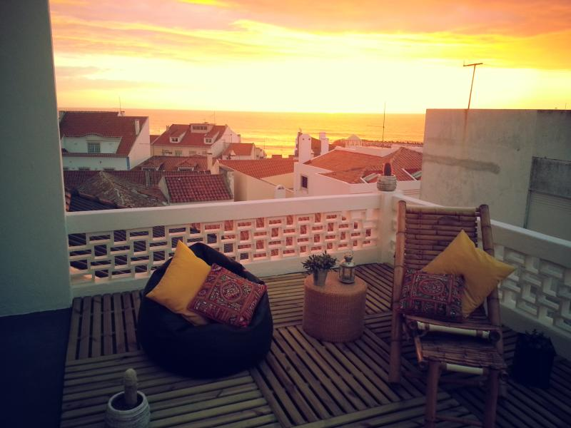 Roof terrace sunset