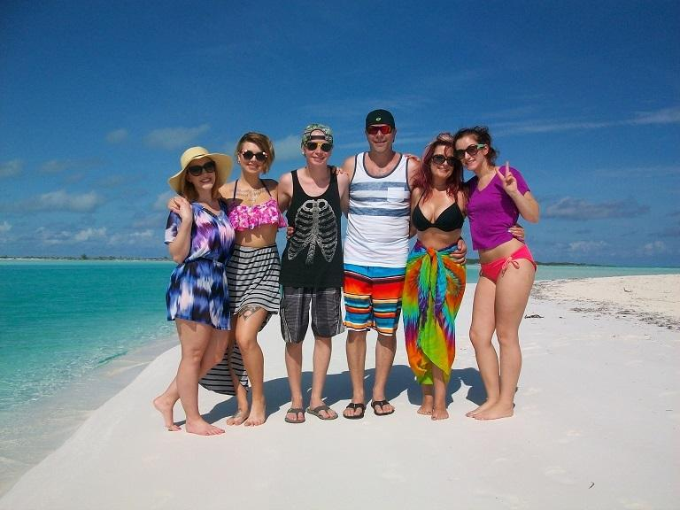 Guests having a fun day on Moriah Cay