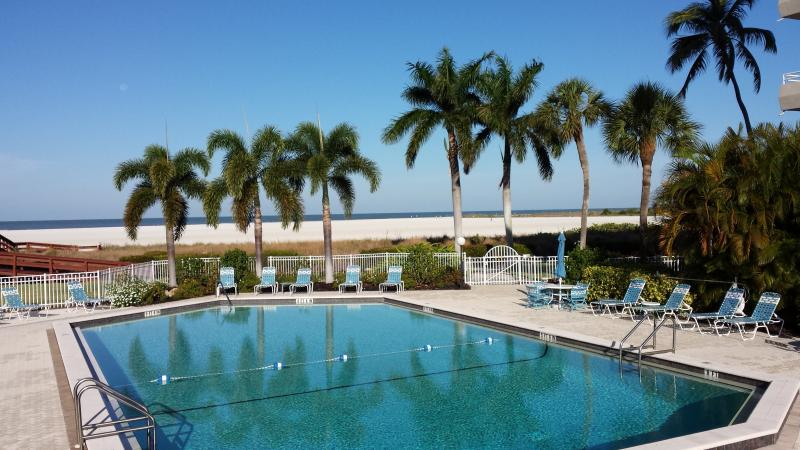 Massive Pool with Beach Views