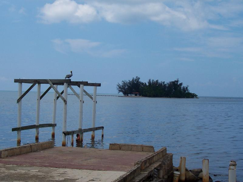Ratones Island at Joyuda.  Boat trips to and from Ratones Island daily.