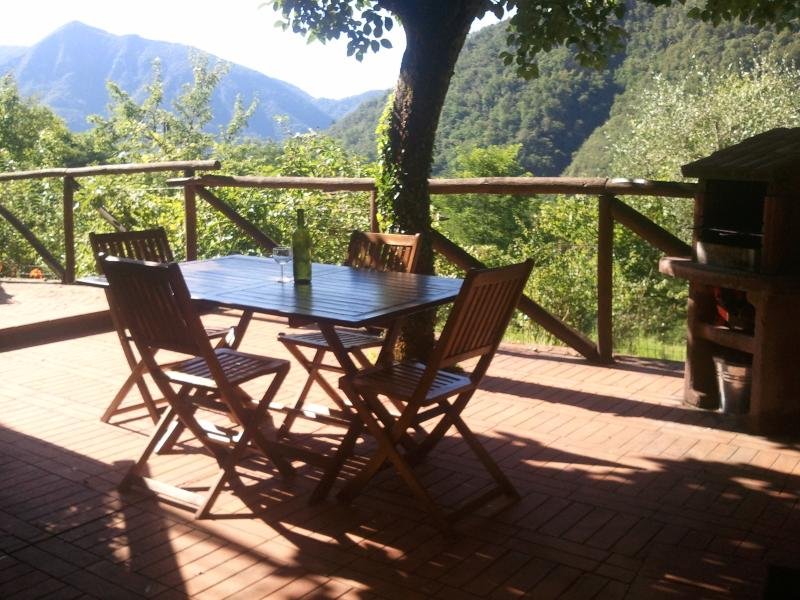 Tuscan Farmhouse with fantastic views, holiday rental in Borgo a Mozzano