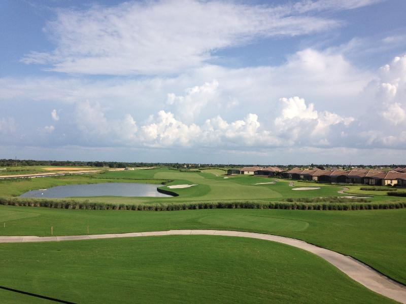 View from the balcony over the golf course