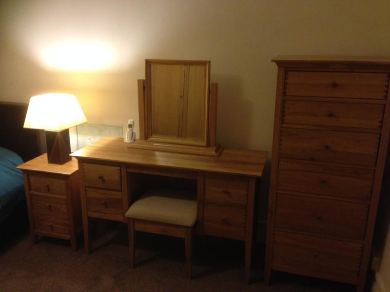 upstairs bedroom with dressing table