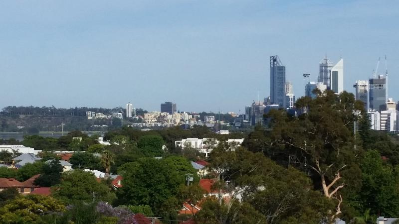 Skyline views of Perth City, the Swan River, South Perth, Kings Park and the Crown Casino
