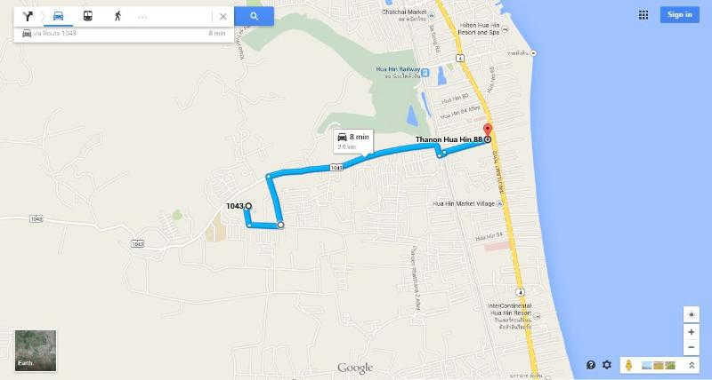 Directions from the house to soi88