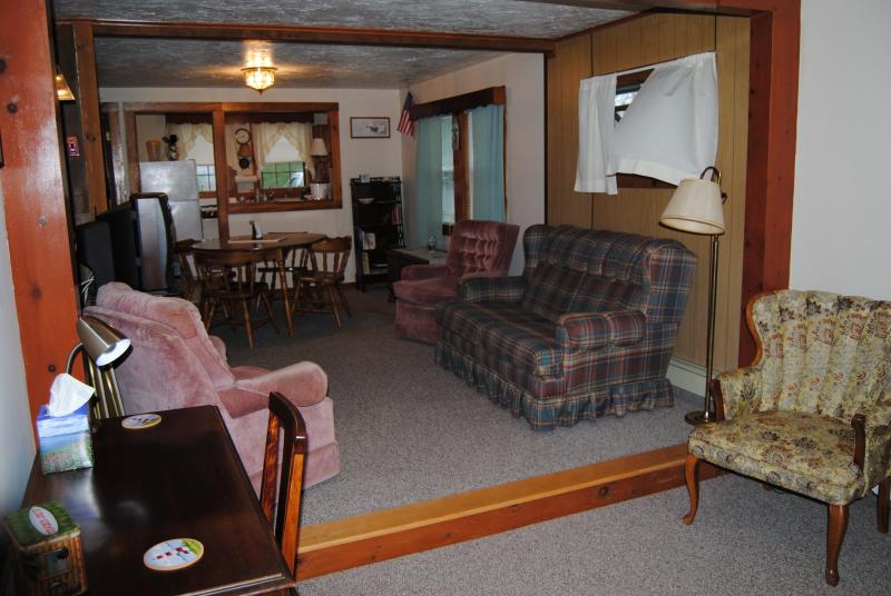 Lower Living Room on through the Upper Living room and Dining Area,  into the the Galley Kitchen.