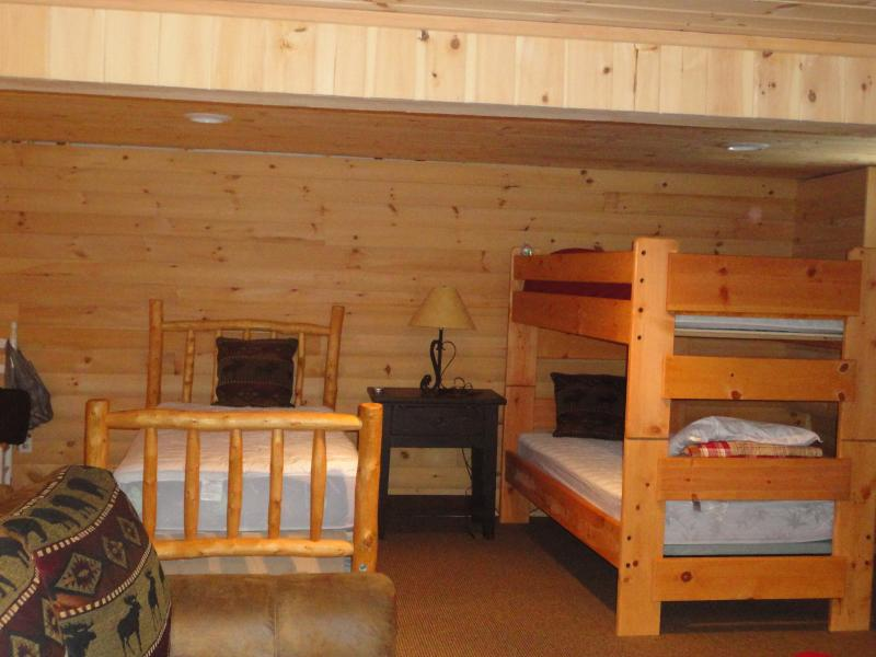 lower level bunk room with full bath