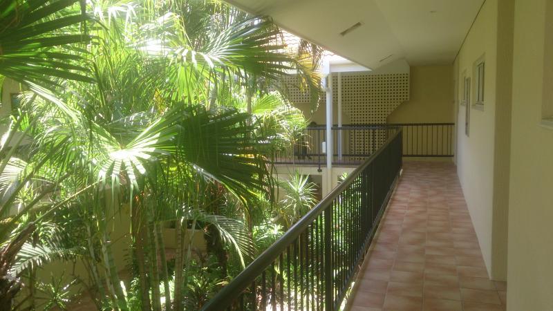 All Apartment Entrances open to tropical garden courtyard
