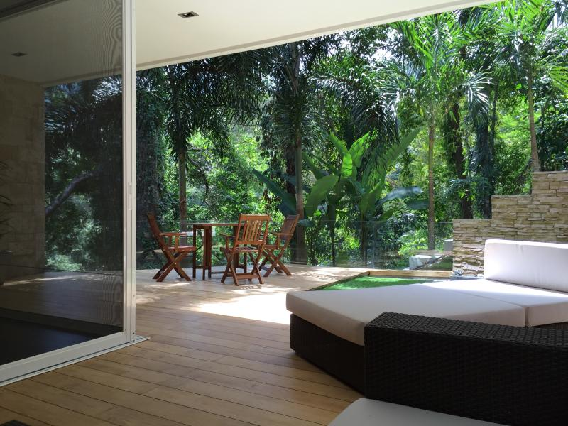 Relaxing in the Tranquil of Sanctuary Surrounded by Mountains, Tropical Forrest, Waterfalls...