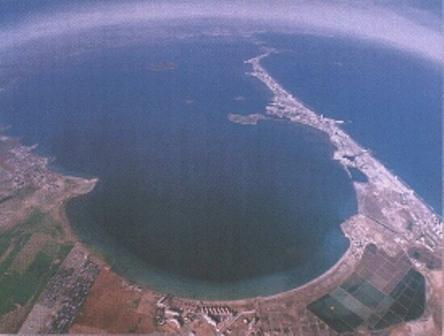 An Aerial shot of this Unique Holiday location!  The Wonderful Mar Menor in Murcia !