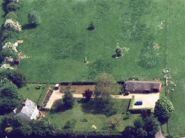 Aerial view of the Garden Chalet.