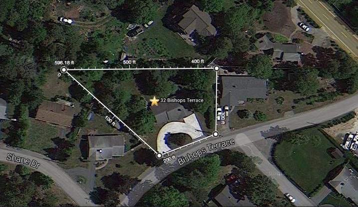 Spacious lot is just under half an acre