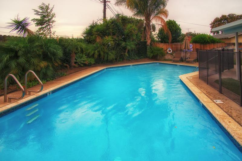 Private Heated Swimming Pool with Safety Fence
