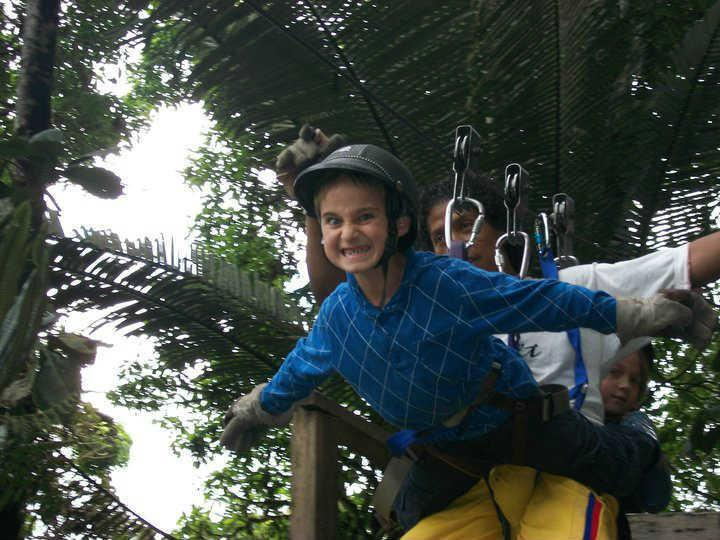 Like to fly with the birds? The zip lines are just across the river from us!
