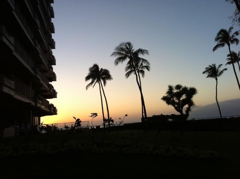 Sunset from just outside our lanai