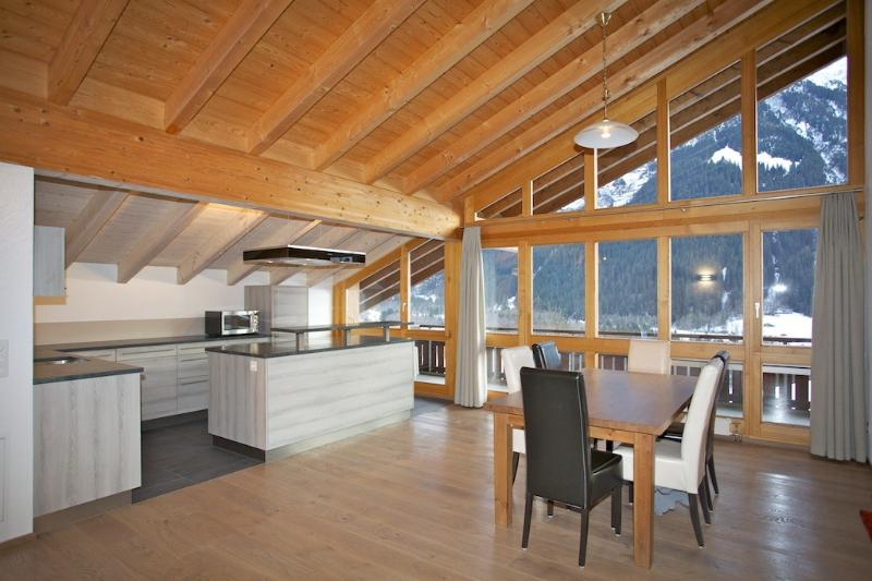 View the Eiger from the Attic's dinning table