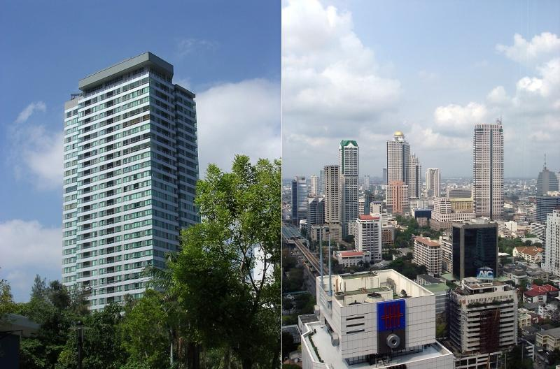 The building and your view from the apartment