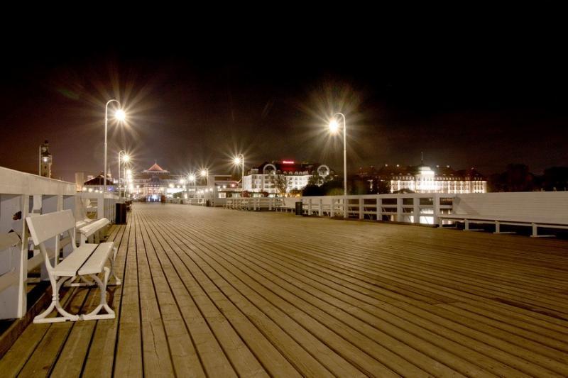 Sopot pier by night