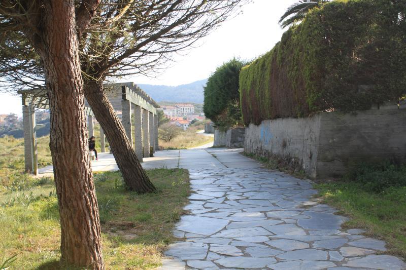 Camino de Santiago bordeando la propiedad