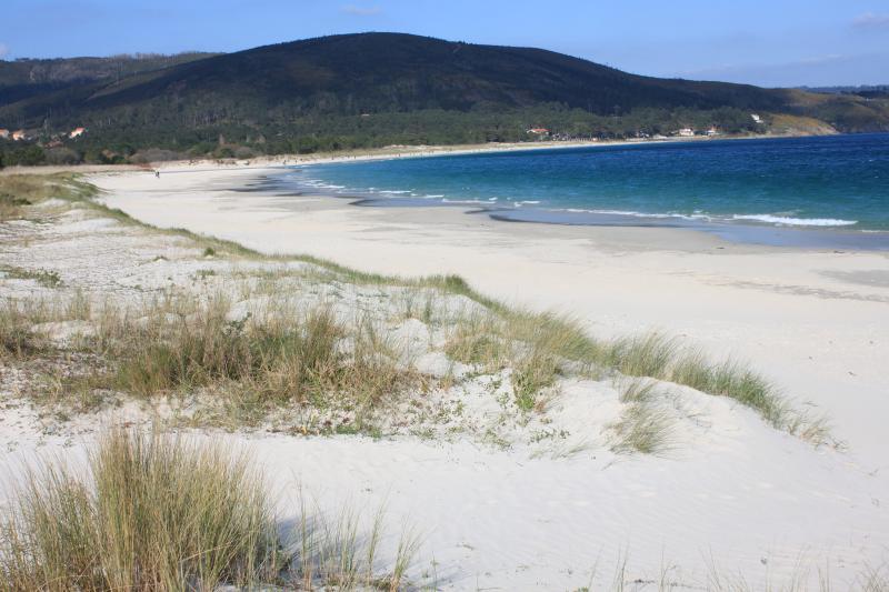Vista izquierda de la playa