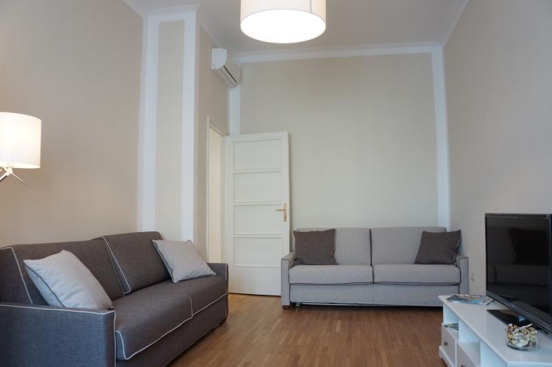 Vista salón sofá