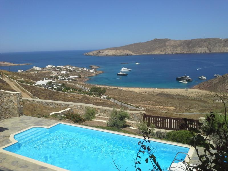 Amazing view of Agios Sostis Beach from the villa