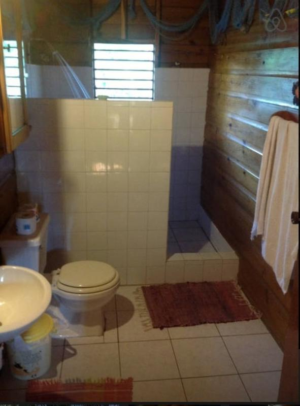 Bathroom uses rain water
