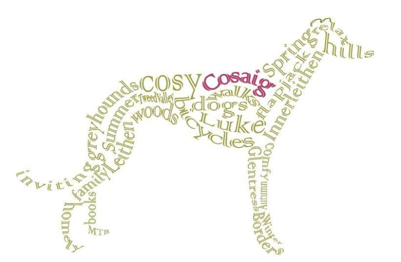 Cosaig welcomes dogs, & we donate to the Scottish Greyhound Sanctuary when sighthounds come to stay