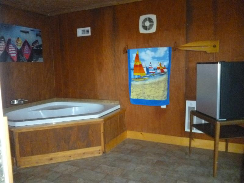 separate Jacuzzi tub for relaxing after a full day of fun