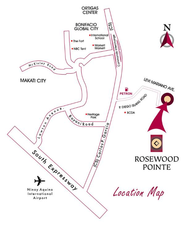 Map of Rosewood