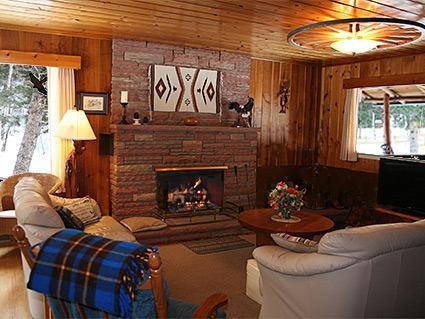 Salon Détendez-vous dans le grand salon avec cheminée au feu de bois