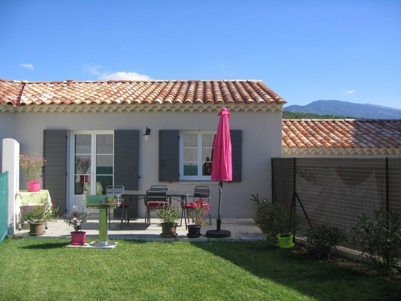 Terrasse et Jardin avec vue sur le Mont Ventoux
