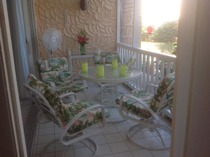 The screened in porch ( gallery) off the living room. Watch the hummingbirds, view the breakers