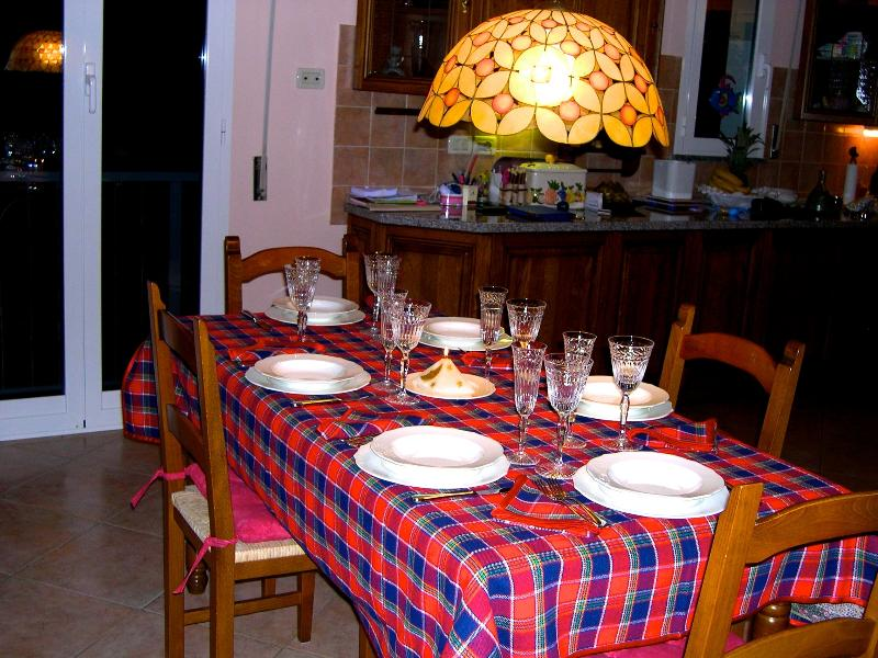 Dinner table in the open space area