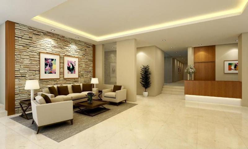 Modern reception area. Bright and welcoming