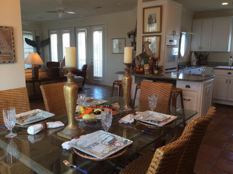 Dining room set for seafood extravaganza