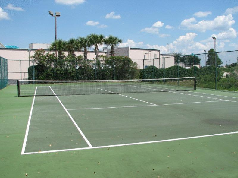 Lighted tennis court to keep in the swing of things