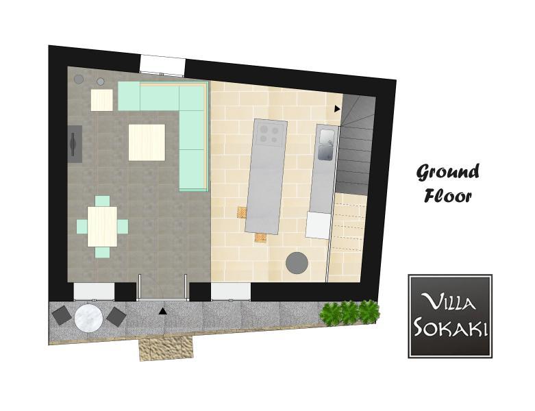 Ground Floor @ Villa Sokaki Lindos