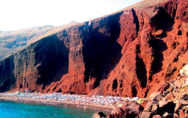 A famosa praia vermelha