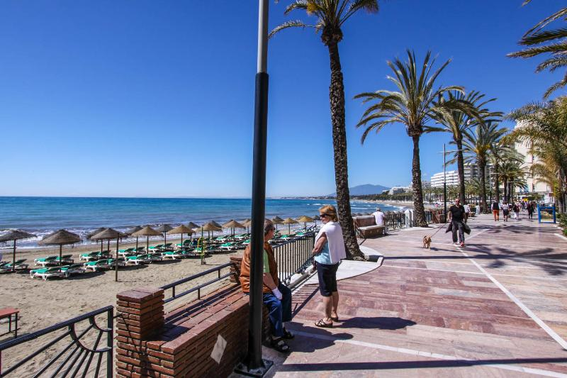 The Paseo Maritimo(Promenade) about 3 minutes walk away