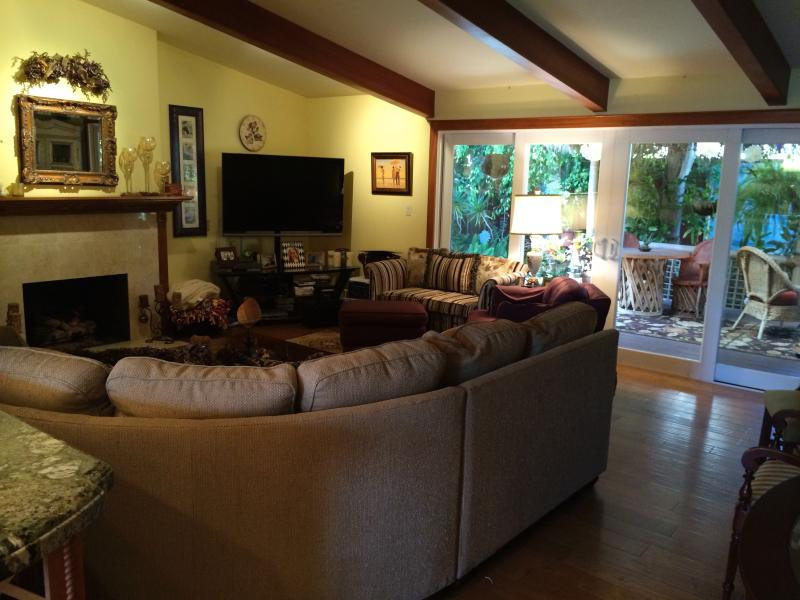 Grand salon avec TV écran plat