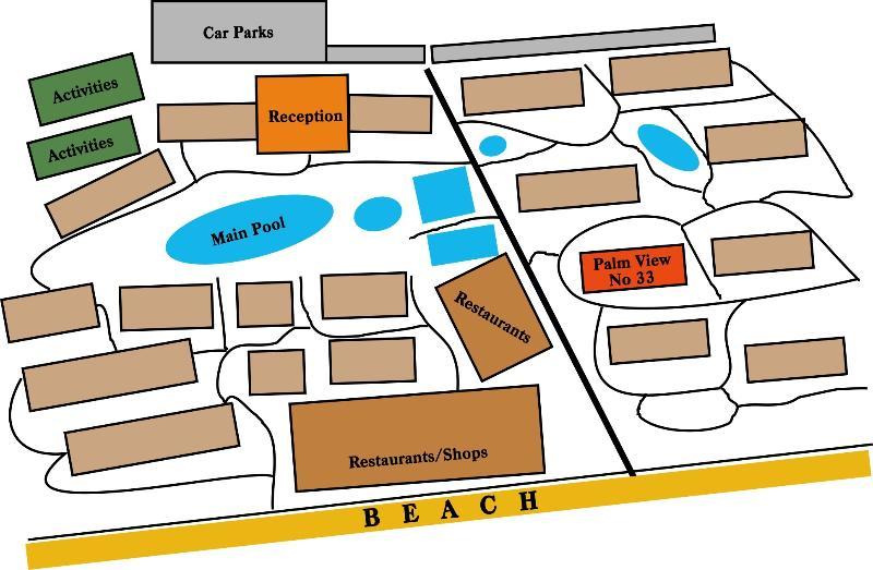 Map of Flamingo Beach Resort