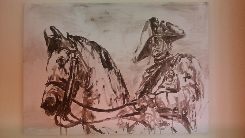Emperor Old Fritz riding horse