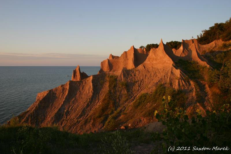 Chimney Bluffs State Park is our most famous and worth the visit- a 20min. drive around the bay.