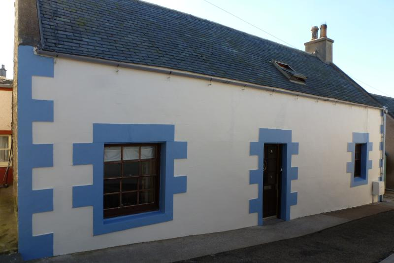 Traditional painted fisherman's cottage.